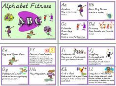 Alphabet | Fitness | Activity Cards. See ALPHABET at ... www.abcteachingresources.com