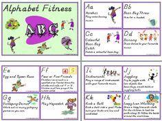 Alphabet   Fitness   Activity Cards. See ALPHABET at ... www.abcteachingresources.com