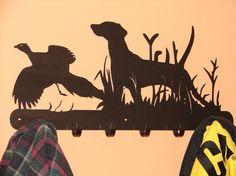 Bird Dog / Pheasant COAT / ROBE RACK Hook Pointer by artbyjack, $59.99