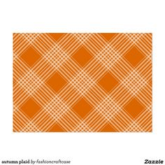 autumn plaid large business card