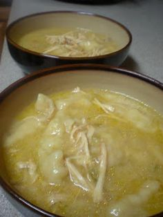 Chicken n' Dumplins... This was such a good recipe!!! It made a ton and it filled me up fast I also loved how it was lower in sodium... It takes A LONG time to cook but is definitely worth the wait! I would suggest adding more chicken : )