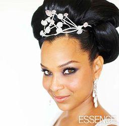 Lisa Raye Wedding Hairstyle