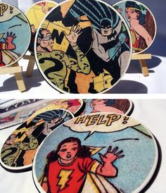 Comic Book Coasters | 21 DIY Projects Your Boyfriend Wishes You Would Make