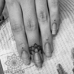 Finger #tatoo...Love it or hate it?! Kirk Edward Nilsen