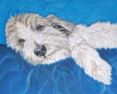 Custom Dog Cat Any Pet Portrait Acrylic Painting 4x4 Stretched Canvas