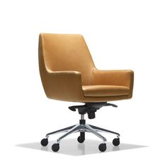 More like an elegant lounge chair on casters than a typical office chair, Cardan is the perfect solution for an office or study where beautiful design is just as important as functionality.