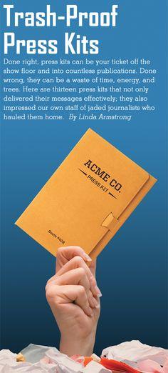 EXHIBITOR magazine - Article: Trash-Proof Press Kits, April 2010