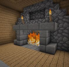 Minecraft Furniture - Fireplaces