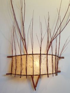 My personal relationship with the land evokes the depth of my artwork. Diy Storage Projects, Diy Luminaire, Lampe Applique, Plug In Wall Sconce, Driftwood Art, Paper Lanterns, Lamp Light, Paper Art, Crafty