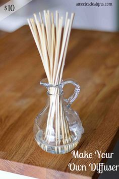 Make your own reed diffuser- with items you already have on hand- for less than $10!