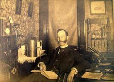 This is how I imagine Will and Ada's father, who had an exam room in their Moreton Terrace home.   ca. 1883, doctor in his office.