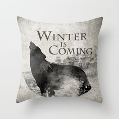 Game of Thrones - House Stark Throw Pillow by MUSENYO - $20.00