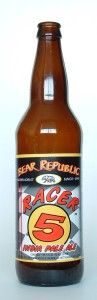 Racer 5 India Pale Ale by Bear Republic Brewing Co. 7.0%. American IPA. Bottled. Enjoyed at Finn McCools. Ambler, PA.