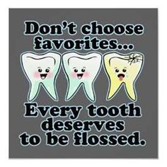 Make sure you're flossing at least twice a day, even in those hard to reach places!