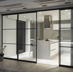 183 home decor ideas page 38 Kitchen Glass Doors, Kitchen Sliding Doors, Internal Glass Sliding Doors, Home Decor Kitchen, Kitchen Interior, Home Interior Design, Door Design, House Design, Modern Kitchen Design