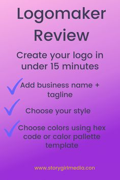 I reviewed the Logo App Design by Tailor Brands. You can make your own logo in less than 15 minutes. This is ideal for online stores, coaches, and more. Save a ton of cash on logo design inspiration that suits your brand.  P.S - Can you spot the TYPO in the image? Make Your Own Logo, Design Your Own, Create Your Own, Logo Design App, Online Logo, Professional Logo, Business Names, Logo Design Inspiration, Marketing Branding