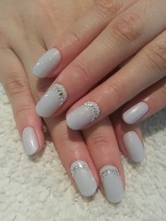 an acrylic extension for length, long rounded nails and LED-polish-manicure-with-crystals pearl feats-attending-wedding-Pedicure-nails-care-natural-healthcare-Gel-Nail-Polish--LED-Nails-Manicure-Acrylic-Nails-Nail-Art-USA-UK