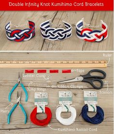 double infinity knot kumihimo cord bracelet #Various #Trusper #Tip