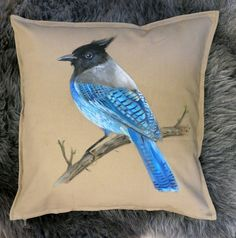 Bird dreams pillow by birdsdreams on Etsy