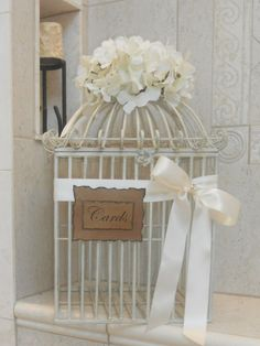 Wedding Card Box Birdcage / Wedding Birdcage Card by YesMoreFunk, $115.00