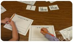 FREEBIE Sight word cards.  Using sight word cards during guided writing @ guided reading