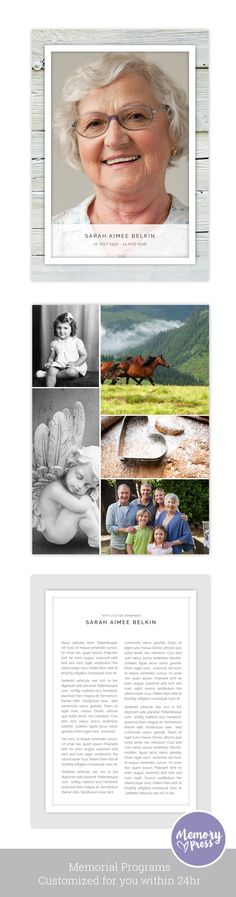 Spring Flowers Funeral Program Funeral Folder Celebration Of Life