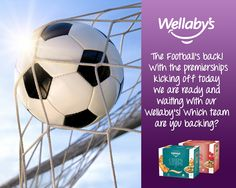 The Football's back! With the UK premierships kicking off today we are ready and waiting with our Wellaby's! Which team are you backing?