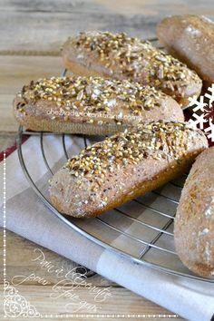 Pain epeautre - Petit pain de Noël levain et épeautre chez Kaderick en Kuizinn©