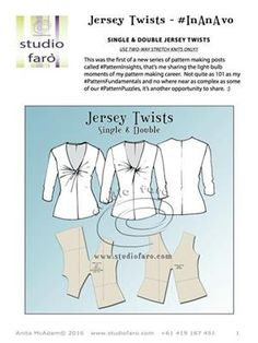 Jersey Twist Pattern Making Worksheet (Download)