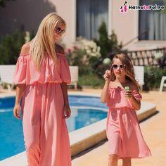 Rochii identice pentru mama si fiica din bumbac, de vara Cold Shoulder Dress, Dresses, Fashion, Vestidos, Moda, Fashion Styles, Dress, Fashion Illustrations, Gown