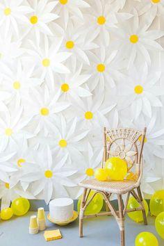 Que tal fazer uma parede de flores para o aniversário para seu filho ou sua filha? http://bit.ly/29eIaTw