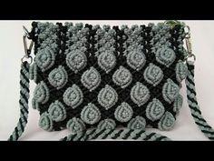 Tutorial Lengkap Tas Tali Kur Motif Mawar - YouTube Macrame Art, Micro Macrame, Free Crochet Bag, Macrame Tutorial, Macrame Patterns, Knitted Bags, Handmade Bags, Chanel Boy Bag, Hand Embroidery
