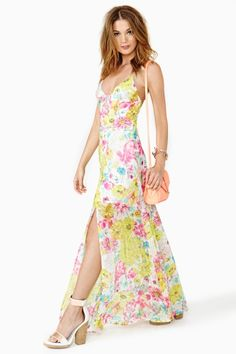 Glowing Spring Maxi Dress
