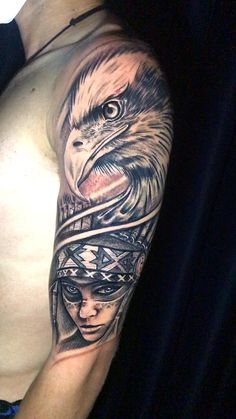 Eagle Tattoos, Dog Tattoos, Hand Tattoos, Girl Tattoos, Tattoos For Guys, Indian Tattoos, Tatoos, Shoulder Tattoos For Women, Sleeve Tattoos For Women