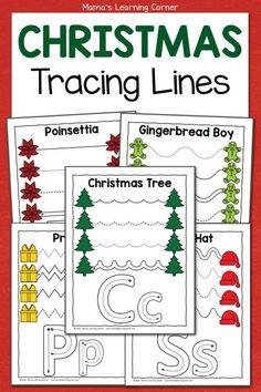 Christmas Tracing Worksheets for Preschool Preschool Routine, Preschool Activities At Home, Christmas Settings, Christmas Themes, Christmas Fun, Christmas Worksheets, Presents For Boys, Tracing Worksheets, Activity Sheets