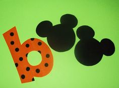Fabric Applique TEMPLATE Pattern Only Mickey Minnie Mouse BOO For HALLOWEEN.......New. $1.50, via Etsy.