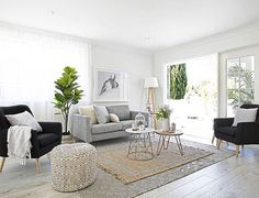 A little living room inspiration via the talented ladies at…