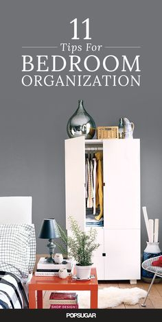 Blouses are spilling out of your drawers, shoes litter your floor, and there are too many random items under your bed to count — sound familiar? If your bedroom is in constant disarray, check out these clever organization tips to make over your messy space. Whether you have plenty of room to work with or just a tiny corner to call your own, here are 11 valuable suggestions for turning your bedroom into a neat and tidy retreat.