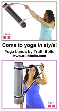 YOGAbands from Truth turn your yoga mat into an accessory. Choose from various bright colors. - www.truthbelts.com $20.00