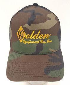 Golden Equipment Co Logger Mesh Camo New Era Cap Hat Hunting Fishing Trucker  Ag  NewEra efb7a8e90c86