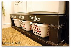 laundry risers - I totally want to do this