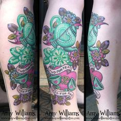 Two For Tea tattoo by Amy Williams, this is freaking insane