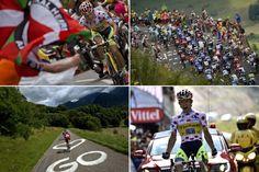 2014ツール・ド・フランス(2014 Tour de France)、第17ステージ(サン・ゴダンスからサン・ラリー・プラ・ダデ、124.5キロメートル)。第17ステージの様子をまとめたコンボ写真(2014年7月23日撮影)。(c)AFP=時事/AFPBB News