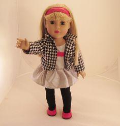 "Dollie & Me Madame Alexander 18"" doll Blonde hair Blue Eyes TLC"