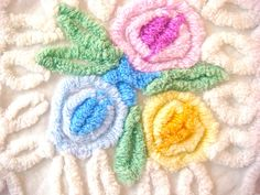 35 x 24 Inches Spring Pastels Lollipop Flowers  by AlorasAdorables, $29.50