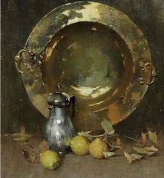 The Athenaeum - Still Life with Brazier, Silver Tea, and Onions (Emil (Soren Emil) Carlsen - ) Figure Painting, Painting & Drawing, Still Life Oil Painting, Copper Art, Inspirational Artwork, Still Life Art, American Artists, Painting Inspiration, Be Still