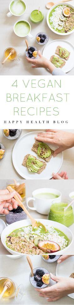 Happy health breakfast - breakfast recipes, nutfree recipes, raw recipes, smoothie & juice recipes - happyhealthblog - Photo: Natalie Yonan