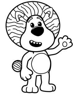 raa raa the noisy lion colouring pages - Google Search