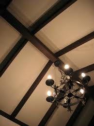 Contrast between light walls and dark wood