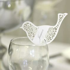laser cut save the date | Bird Laser Cut Place Card - Wedding Mall - Wedding Decorations, Table ...